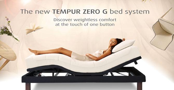 日本Tempur公司推出无重力智能电动床