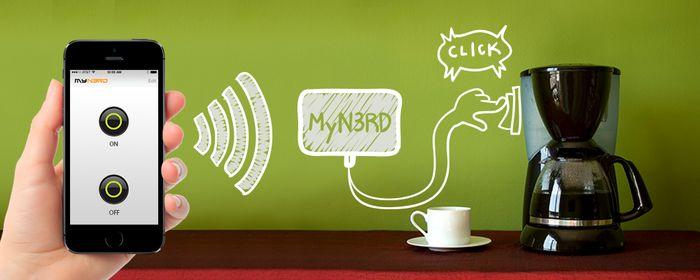 My N3RD装置不需要通过网路或者蓝牙就能控制和使用家电