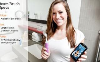 跟上时代洁齿脚步,Beam Toothbrush智能牙刷能记录刷牙数据并与手机同步