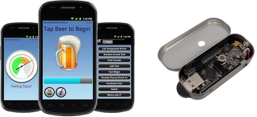 专为Android手机服务的Droidalyzer开源蓝牙酒精检测仪