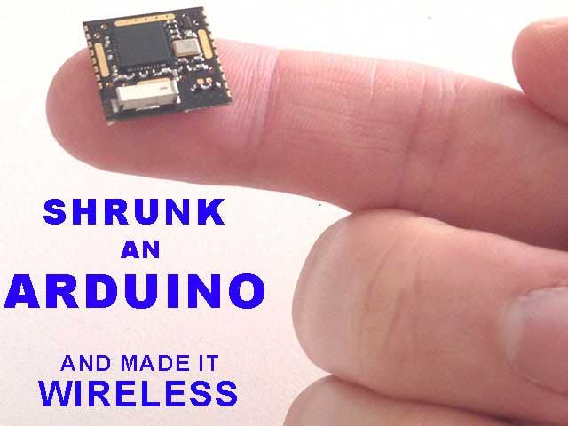 仅指尖大小的无线Arduino开发板RFduino