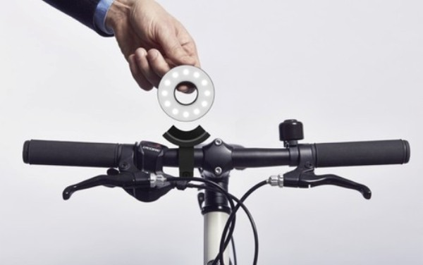 Double O自行车LED灯简约还够安全