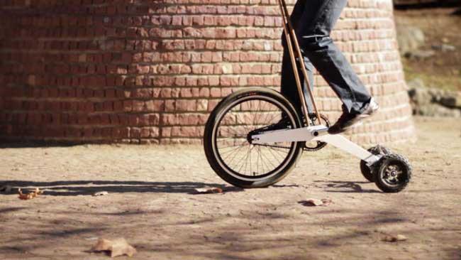 智能自行车Halfbike能将骑车和跑步两种运动融为一体