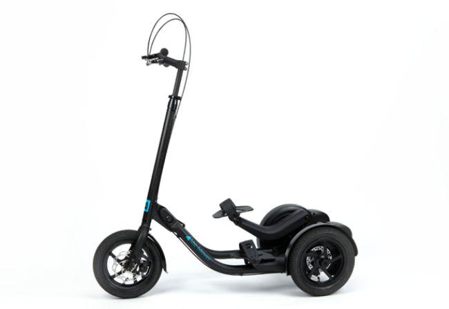 微智能三轮车Me-Mover还可当健身工具使用