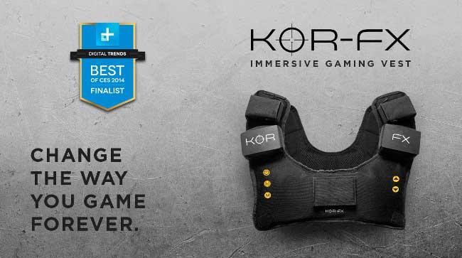 KOR-FX微智能背心成为虚拟现实游戏必备神器