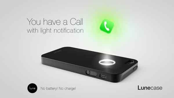 Lunecase智能手机壳无需供电就能显示信息