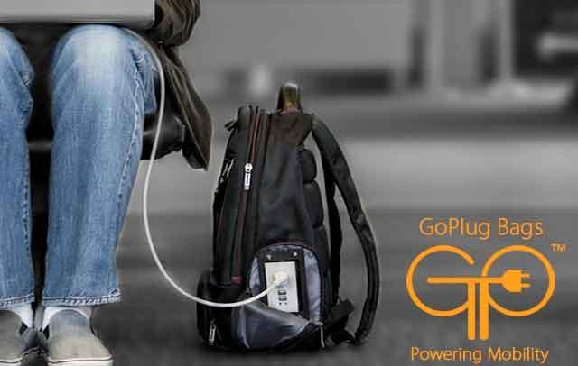 GoPlug背包内藏玄机,能给智能手机、平板充电