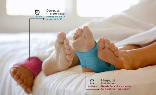 Acuwak智能闹钟袜子能用温和的方式叫你起床