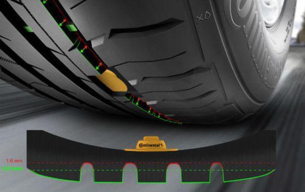 智能轮胎内置传感器监测车胎内部气压和表面磨损