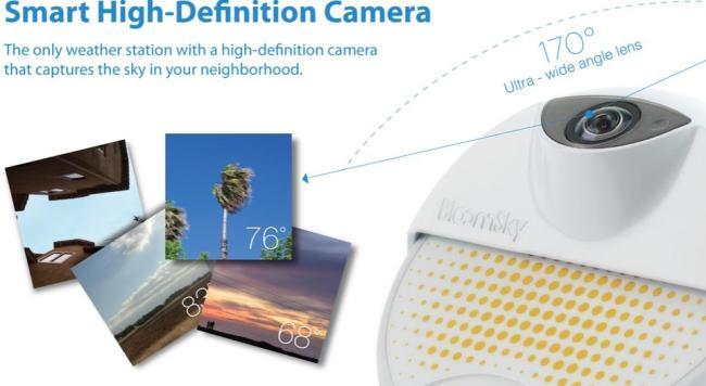 微智能BloomSky智能摄像头实时显示天气信息