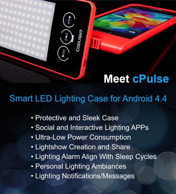 cpulse就是可编程的LED手机壳