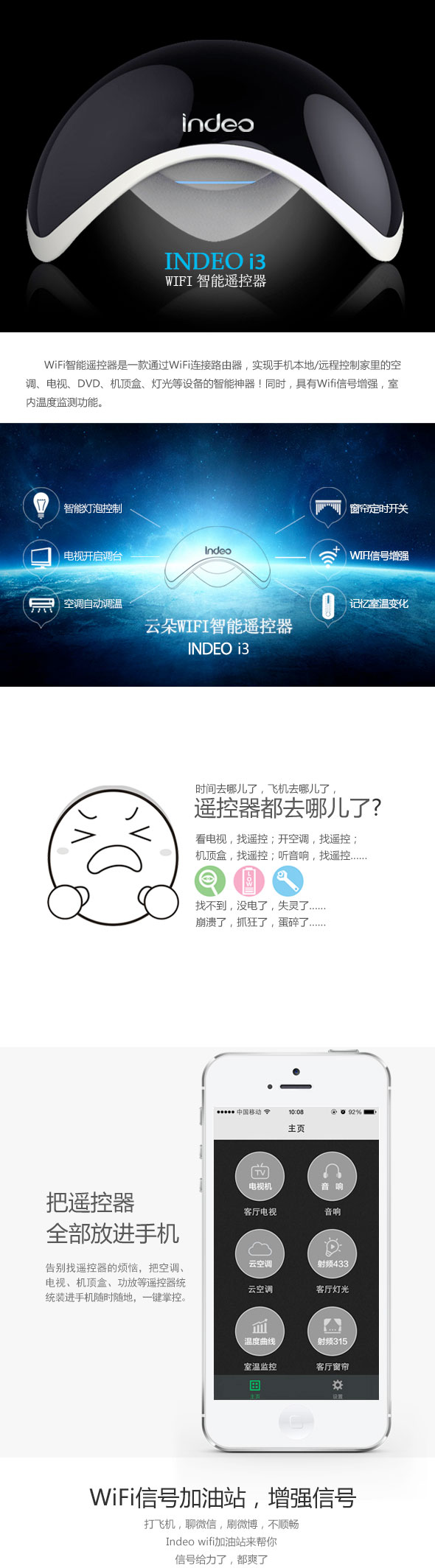 Indeo 云朵i3 WiFi智能遥控器