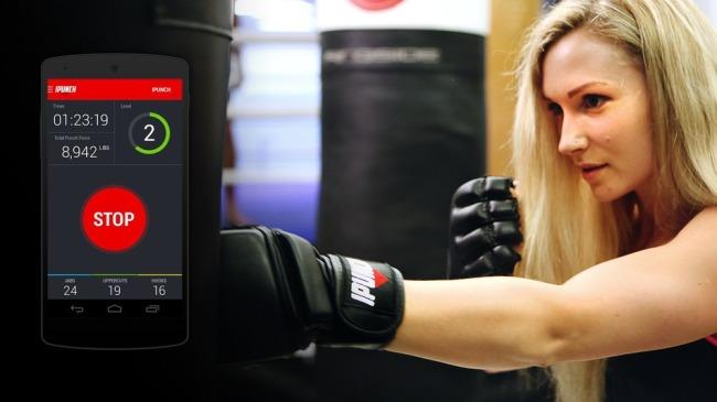 iPunch智能搏击手套能精确的追踪每一拳的力度