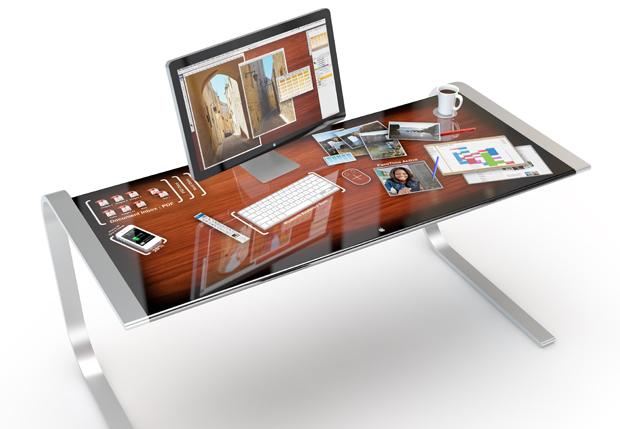 iDesk智能书桌能够触摸整个桌面