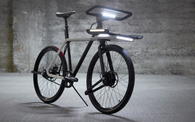设计老手团队Teague的智能自行车Denny能卸下车把当车锁