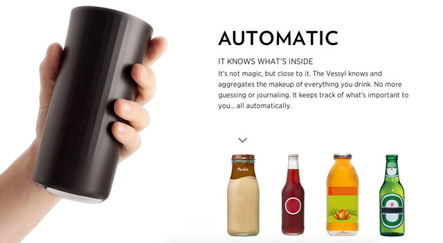 智能水杯Vessyl可追踪饮水量并分析杯中的液体成分,已获300万美元的天使投资