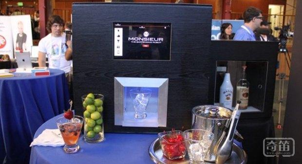 智能机器人调酒师Monsieur,获得200万美元种子轮融资