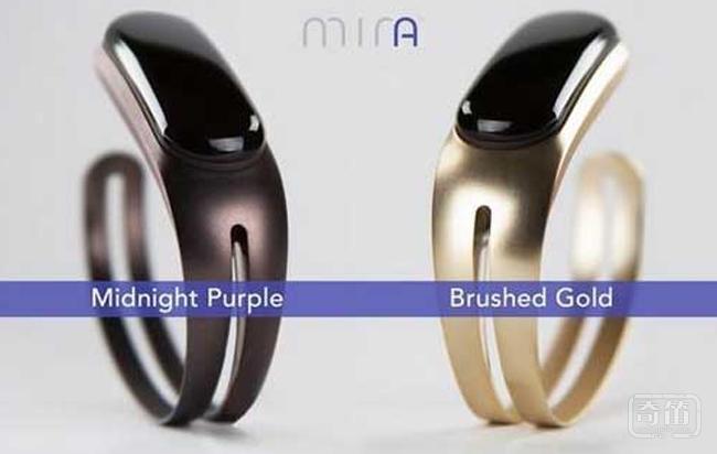 Mira女性智能手镯可以跟踪用户的运动数据、饮食信息
