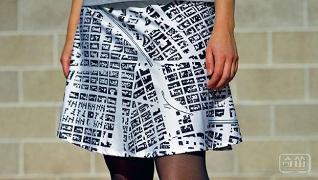 Monochome通过地里数据让你将任何一个地方的地图打印在衣服上