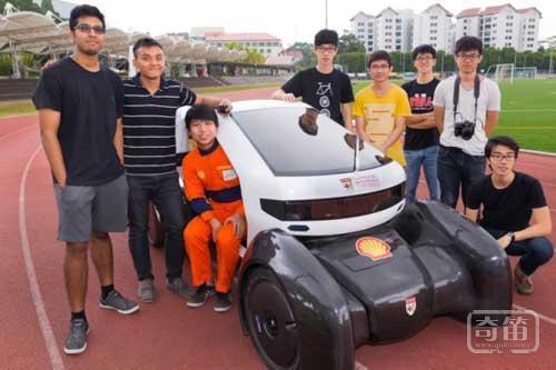 NTU Venture(NV)8城市概念车采用3D打印技术