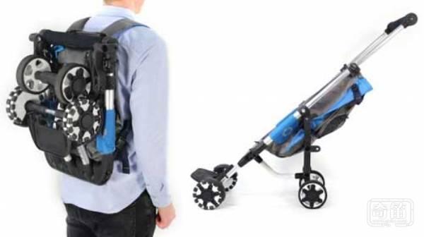 OmniO Rider婴儿车能像背包一样背起来