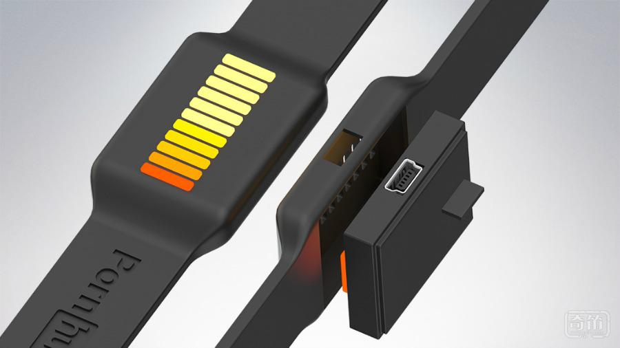 Wankband智能手环支持电磁感线动能充电