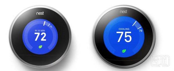Nest新款三代的显示屏尺寸更大分辨率更高