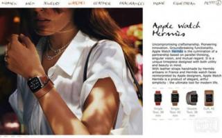 爱马仕版Apple Watch官网正式开售,1100美元起