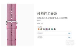 苹果推出Apple Watch尼龙表带 国内售价398元