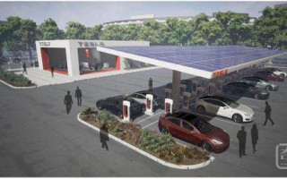 """特斯拉要改造所有的超级充电站,亲自示范什么叫做""""一站式能源解决方案"""""""