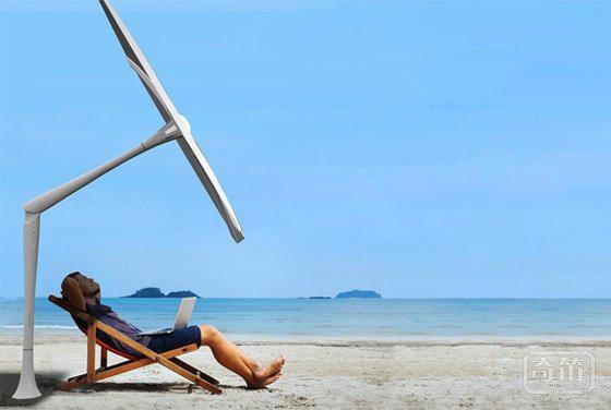 能自动移动的智能遮阳伞 让你永远都在阴凉中