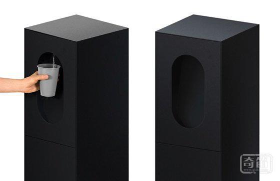 极简智能饮水机Apas Monolith 可统计您一天的饮水量