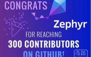 Zephyr Project的里程碑:我们拥有300个贡献者了!