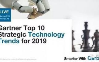 重磅!Gartner公布2019年十大战略科技发展趋势